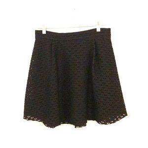Lush Flounce Eyelet Mini Skirt
